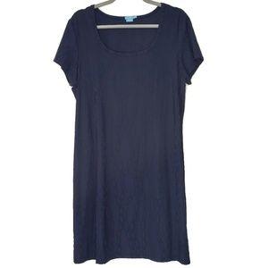 J. McLaughlin Short Sleeve Modest, Midi Dress XL